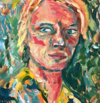 Mijn eerste zelfportret gemaakt tijdens workshop in @vangoghmuseum bij @tyasleeuwerink. Heeft mijn schilderij toch even in het Van Gogh gehangen😀 #gewoondoen #uitjecomfortzone #oefeningbaartkunst #dowhatyoulove #zelfportretinvijfkwartier #ikigai @ikigai_liveyourpurpose #brandexpert #logodesigner #socialmediabranding #colouryourlife