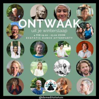 Graag deel ik de openingsceremonie op 4 februari van De Meditatietuin, een nieuw initiatief in Amsterdam voor meditatie en bewust zijn. Ik heb het in een vroeg statium gesponsord en draag ook nu graag een steentje bij. Link even kopiëren om een ticket te kopen. 'Met vertrouwen openen we samen virtueel al onze deuren voordat we in maart écht open zullen gaan. Wij, Chloë & Gijs Niranjan nemen je tijdens dit openings event mee op reis door de nieuwe wereld van De Meditatietuin. Ervaar tijdens deze speciale avond een voorproefje van het seizoensgebonden programma met een greep uit het prachtige aanbod. Er zijn twee rondes, elke ronde heb je keuze uit maar liefst tien workshops: van meditatie, lichaamswerk en dans tot natuurlijk leiderschap, Native American Storytelling en breathwork. Daarnaast is er live muziek met Leonie Bos, een Ecstatic Dance door DJ Martyn Zij en lanceren we officieel ons seizoensgebonden programma. Check ons Facebook event voor het volledige aanbod hier: https://www.facebook. com/events/2810585159157767 Ga mee op avontuur Het evenement zal plaatsvinden via een besloten zoom link die je ontvangt nadat je je ticket hebt gekocht. Om 19:00 beginnen we met een openingsritueel en een 'Soulplay' voorstelling door Mijke linssen. Daarna is het tijd voor jouw eigen ontdekkingsreis in de Meditatietuin. Bestel je tickets voor 11,- via: https://www.chipta.com/nl/tickets/event/34460/ontwaak-uit-je-winterslaap/event-info/ We ontmoeten je heel graag op donderdagavond 4 februari en hopen dat je net zoals ons, een zaadje zult planten voor je persoonlijke bloei in de lente! Laten we met zijn alle online samen komen, juist nu in deze tijd. Nodig je vrienden en familie uit om met ons bij dit bijzondere moment te zijn.